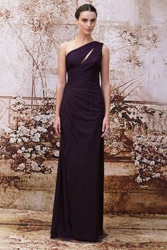 PLUM TULLE GOWN WITH SWEETHEART NECKLINE