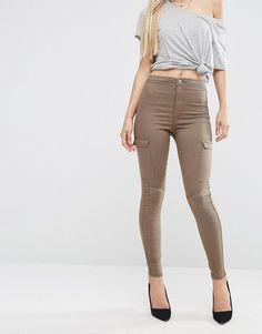 Image 1 - ASOS - RIVINGTON - Jegging avec poches sur les côtés - Marron noix
