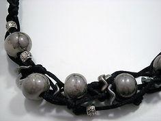 Zandstorm: Halsketting met satijnkoord (Juwelen,halsketting)