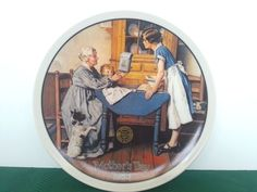 Add Two 2 Cups & A Measure of Love Norman Rockwell Mother Day Series Plate COA #KnowlesBradfordExchange