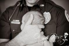 Police Officer with Newborn Baby photography-i-love