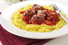 Vegetarian meatballs with red pepper sauce and spaghetti recipe - goodtoknow