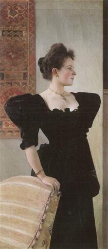 Portrait of Marie Breunig - Gustav Klimt