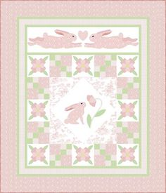 Sophie's Garden - PTN676   www.katemitchellquilts.com  Kate Mitchell of Kate Mitchell Quilts     Based on Once Upon A Time collection - by Deborah Edwards Northcott Studio