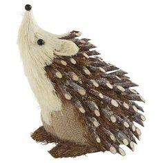 Natural Hedgehog at pier one! Driftwood Christmas Tree, Beach Christmas, Woodland Christmas, Pine Cone Art, Pine Cone Crafts, Felt Decorations, Christmas Decorations, Christmas Ornaments, Autumn Crafts