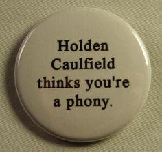 "Literary 1.5"" Button - Catcher in the Rye. $1.50, via Etsy."