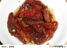 Italská nakládaná sušená rajčata recept - TopRecepty.cz Nespresso, Steak, Bacon, Pork, Food And Drink, Beef, Canning, Breakfast, Welding