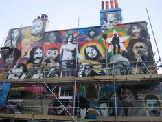 New street art going up on 11.7.13 on the corner of Trafalgar Street, Brighton
