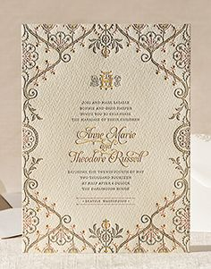 intricate floral design dont love the type. Inkwell elum letterpress wedding invitations Letterpress Wedding Invitations