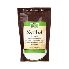 Xylitol is a pure natural sweetener with 1/3 the calories of regular sugar. As a sugar alcohol, xylitol doesn't promote tooth decay.