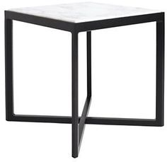 Krusin Side Table with Marble Tabletop Design Within Reach