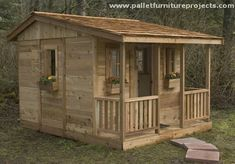Pallet Garden Shed Cabin