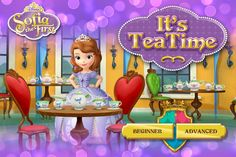 Help your little one learn about princess customs by playing Sofia the First's It's Tea Time game.