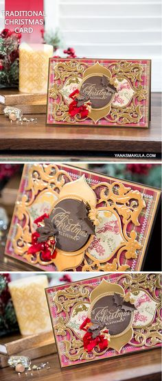 Create beautiful Christmas card using Christmas Dove Frame Die from Spellbinders, papers from Trimcraft and stunning Holiday sentiment from Wplus9 Design Studio, LLC For details and video tutorial, visit  http://www.yanasmakula.com/?p=55828