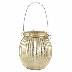 Tu Gold Mercury Hanging Lantern - 12x11x11 - £5.00