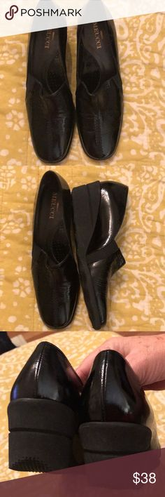 Shoes MeucciBlack wedge heels in excellent condition size 9 Meucci Shoes Flats & Loafers