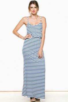 A simple, sleeveless maxi dress to wear out on the weekends.