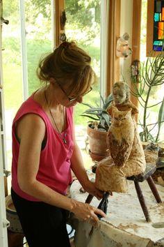 Christina Bothwell at work in her studio.