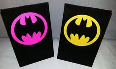 Batman party bags , batgirl party bags,  goodie bags, candy bags assorted colors batgirl pink black and yellow on Etsy, $18.99