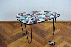 Tripod Mosaik Tisch Nierentisch Mid Century 50er 60er Mosaic Table Dreibein | eBay