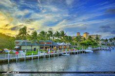 Restaurant at Waterway in Pompano Beach Florida
