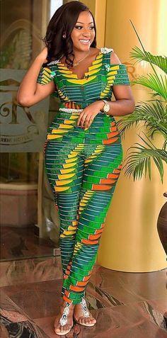 latest African print, African fashion, Ankara style in jumpsuit. African Fashion Designers, African Fashion Ankara, Latest African Fashion Dresses, African Dresses For Women, African Print Fashion, Africa Fashion, African Wear, African Attire, African Women