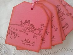 these tags are going on favors. vintage feel for flowers and invite. About to Hatch Nest Baby Shower Tags Set of 6 on Etsy, $4.50