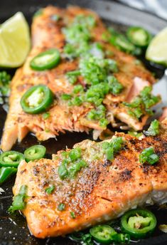 This week's keto meal plan includes 5 DELICIOUS low-carb meals--All under 6 net carbs! Enjoy Salmon with Jalapeno Lime Butter and a side of Air Fryer Broccoli! Even better: I included a bonus keto snack to enjoy while watching a movie or football game! Seafood Dishes, Seafood Recipes, Cooking Recipes, Roasted Salmon, Baked Salmon, Keto Salmon, Butter Salmon, 15 Minute Meals, Salmon Burgers