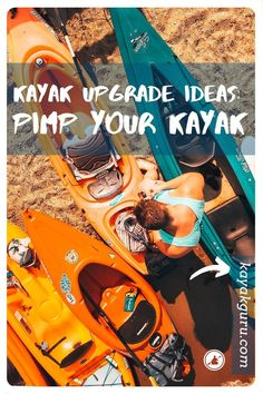 Ideas to pimp your kayak and give it the upgrade it deserves. These modifications will motivate you to change your kayak into a mean machine and got you out paddling on the water more to show off to your friends. Kayak Fishing Tips, Fishing 101, Kayak Camping, Sport Fishing, Best Fishing, Catfish Fishing, Fishing Basics, Fishing Boats, Fly Fishing