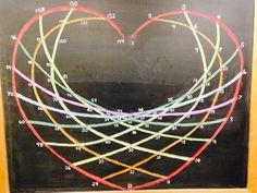 Times Table Chalkboard Heart