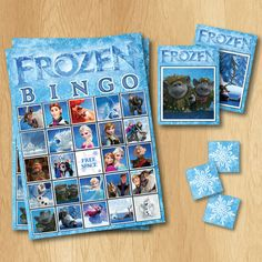 Frozen Bingo Game  INSTANT DOWNLOAD Frozen Game  by PrintMeParties, $4.99
