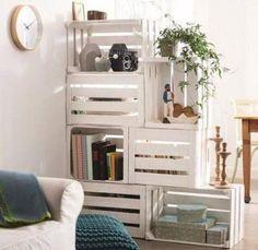A little paint job does wonders in making a homemade bookshelf look chic. Source: L'Art de la Caisse via Recyclart
