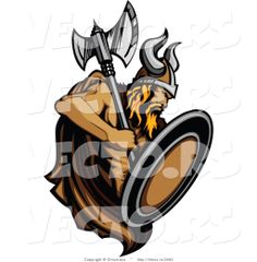 Viking | Vector of a Dominant Viking Warrior with Axe and Shield by Chromaco ...