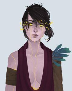 danya224: Morrigan crying with gold. because i can