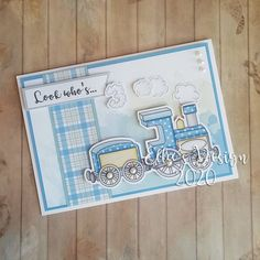 Train mini paper kit | Etsy Image Sheet, Black And White Lines, New Baby Cards, Flower Quotes, Card Kit, Digital Stamps, Line Art, New Baby Products, Paper Crafts