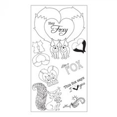 Sizzix Interchangeable Clear Stamps - Fox Tales - Catalog