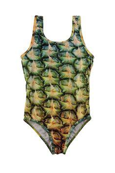 Molo badpak voor meisjes Pineapple, groen