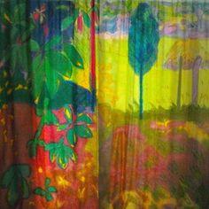 My friend Lizzie paints the most gorgeous curtains!