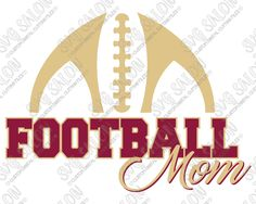 Football Mom Laces Outline Custom DIY Vinyl Women's Shirt Decal Cutting File in…