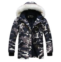 68.00$  Watch now - http://aliu1r.worldwells.pw/go.php?t=32596791682 - Hot-selling 2017 new arrival Wadded Winter Jacket for Men Cotton Wadded Thickening camouflage winter coat men's winter parka