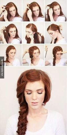 TOP Hairstyle Tutorials For This Fall DIY Long Hair Braid Updo - Classic hairstyle tutorials