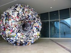 Turbulent Book Installations By Alicia Martin