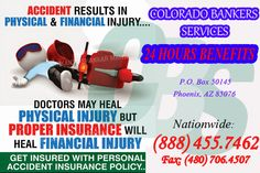 WELCOME TO COLORADO BANKERS SERVICES INSURANCE!   Colorado Bankers Services Insurance (#CBS) is one of the nation's most committed providers of critical illness, accident, final expense & a wide variety of other exceptional products.   #keyfeatures #CBS #AccidentalCoverage #24hourAccidentCoverage   Nationwide: (888) 455.7462 Fax: (480) 706.4507