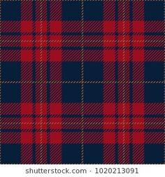 Blue and Red Tartan Plaid Scottish Pattern