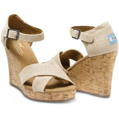 TOMS Sierra Strappy Wedges - wedding shoes, need the extra height - bridal/MOH shoes