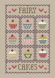 Fairy Cakes Cross Stitch Kit | sewandso