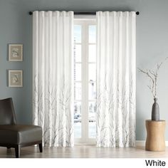Madison Park Eliza Faux Silk 84-inch Curtain Panel | Overstock.com