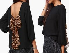P.S. I Love You More Boutique | Leopard Bow Back Top |  -- Spring Summer Fall Winter Fashion. www.psiloveyoumoreboutique.com
