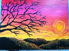 probably recreating something like this. need to paint and i sure do love painting sun sets.
