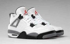 the latest 67625 2af31 Cement 4s Jordan 4 White Cement, Sneakers Nike Jordan, Nike Shoes, Shoes  Sneakers
